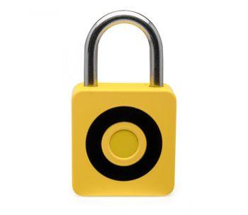 Cadeado-inteligente-com-impressao-digital-amarelo