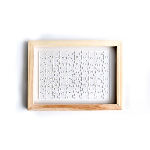 Kit Quebra-Cabeça 70 peças + Moldura de Madeira