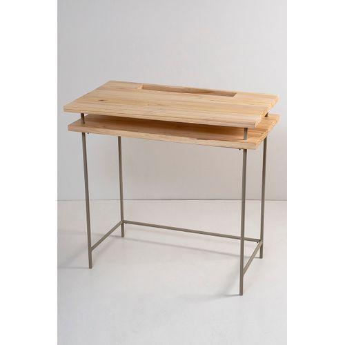 Mesa Escrivaninha Tampo Suspenso Taupe