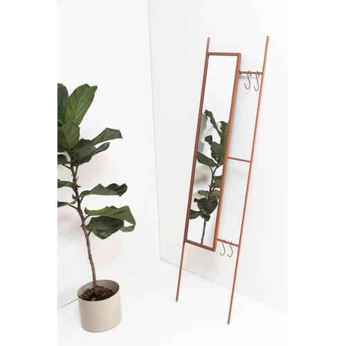 Escada de Parede com Espelho e Ganchos Terracota