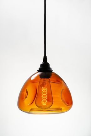 Luminaria-pendente-de-vidro-ambar-formas