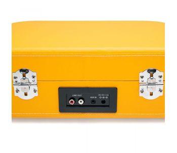 Vitrola-toca-discos-de-mala-amarela-com-bluetooth-e-alto-falantes