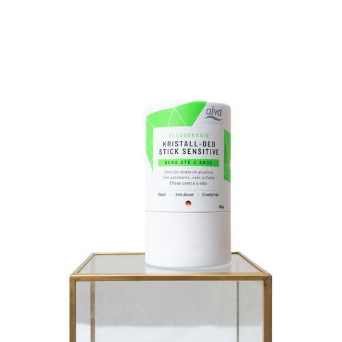 Desodorante Vegano Stick Kristall Sensitive Biodegradável 120g