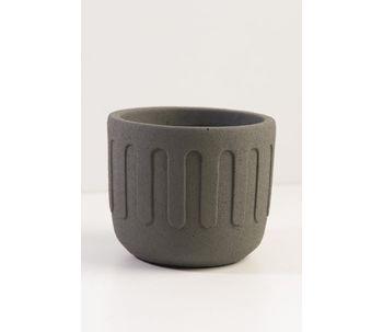 Vaso-Cimento-Cinza